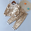 Thumbnail: Humor Bear NEW Autumn Baby Girl Clothes Clothing Sets Stripe Velvet Long-Sleeved