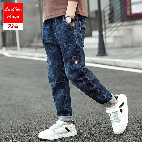 Liakhouskaya Spring Baby Boys Jeans Pants Teenagers Kids Clothes Cotton Casual