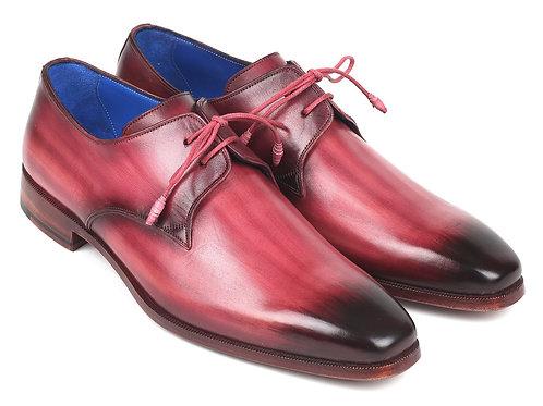 Paul Parkman Pink & Purple Hand-Painted Derby Shoes