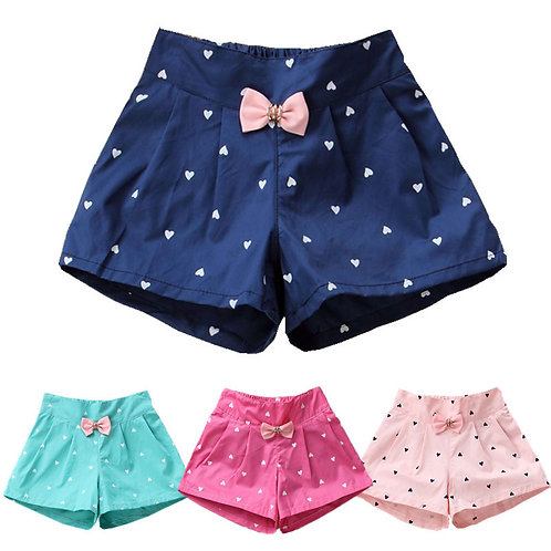 2019 New Candy Color Baby Girls Shorts Print Children Shorts Kids Shorts