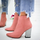 Thumbnail: European Pointed Toe Girl Boots Flock Solid Woman Solid Boots Boots