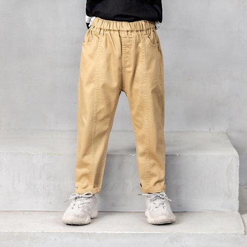 Kids Children Baby Boys Pants Retro Khaki , Brown , Black Casual Straight