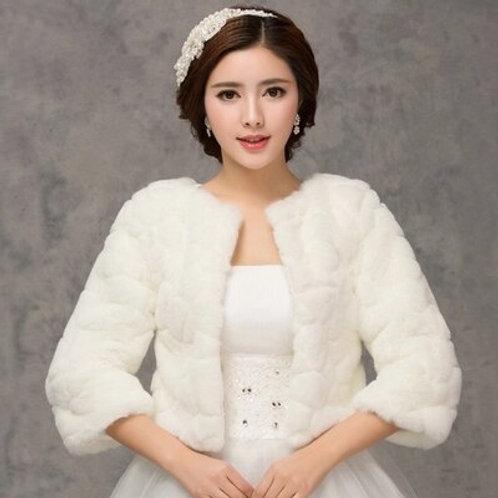 Bridal Fur Wraps Wedding Bolero Jacket Cheap Bridal Shawl Capes Plus Size