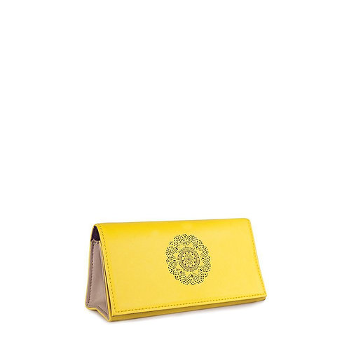 Looking Good Leather Sunglasses Case-Lemon