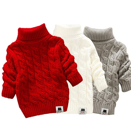 LCJMMO Toddler Girls Sweaters 2020 Winter Warm Kids Boys Sweaters Knit Pullover