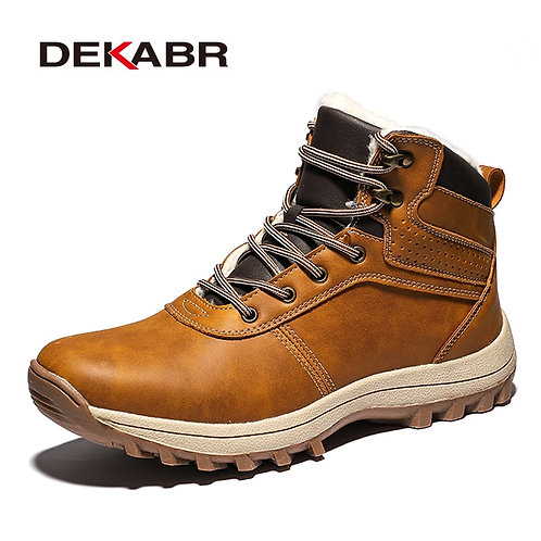 Men Snow Boots Handmade Waterproof Working Ankle Boots High Top Men Shoes