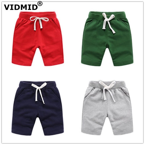 VIDMID Baby Boys Shorts Colorful Summer Fashion Cotton Trousers Kids Boys Solid