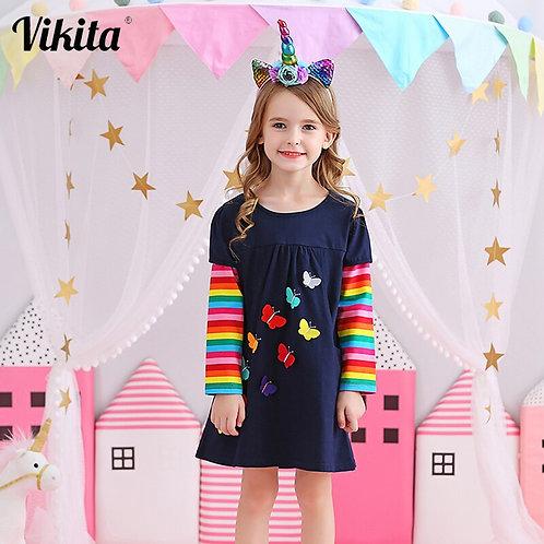 VIKITA Kids Girls Dress Baby Children Toddler Princess Dress Vestidos Children
