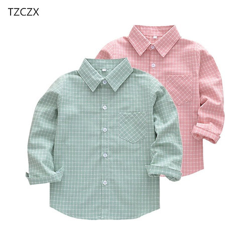 New Children Boys Shirts Fashion Classic Casual Plaid for 3-11 Years Kids Boy