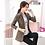Thumbnail: PEONFLY Vintage Office Lady Notched Collar Plaid Women Blazer Single Jacket
