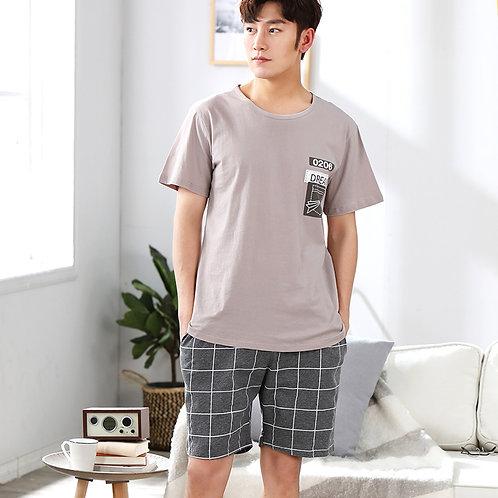 Newest Men's Pajamas Set Summer Men Pajamas Sets Simple Sleepwear Men's Short