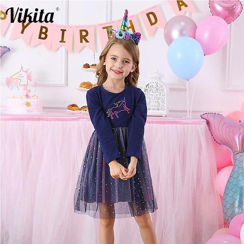 VIKITA Girls Unicorn Dress Princess Tutu Dress for Girls Children Birthday Party