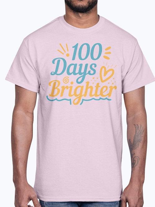 100 Days Brighter -  School  - Cotton Tee