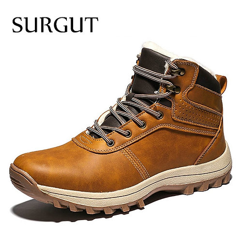 Genuine Leather High-Quality Vintage British Snow Boots