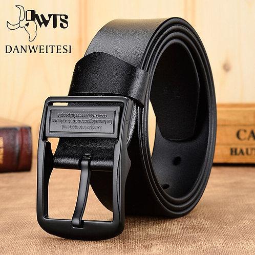 Leather Belt Men / Strap Luxury Pin Buckle Belts for Men