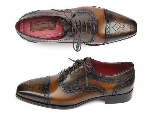 Paul Parkman Men's Captoe Oxfords Camel & Olive Shoes