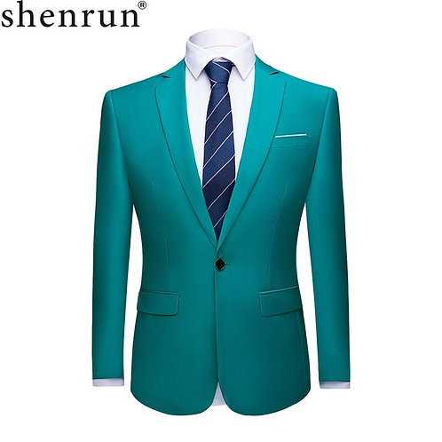 Shenrun Men Suit Jacket Blazers Business Jackets Formal Office Casual Slim Fit