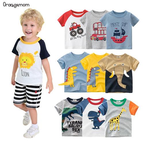 Orangemom Anime 2020 Summer Children's Clothing Boys Short Sleeve T-Shirt  Kids