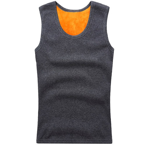 New Fashion Men's Warm Sweater Vest Thick Wide Shoulder Thermal Underwear