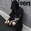 Thumbnail: Spring Summer Men Black Thin Cotton & Linen Punk Hip Hop Long Trench Coat Hooded