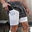 Thumbnail: Double Layer 2 in 1 Shorts Men Gym Fitness Workout Short Pants