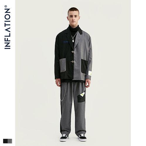 INFLATION DESIGN Oversized Mens Casual Blazer Loose Fit Oversized Men Blazer