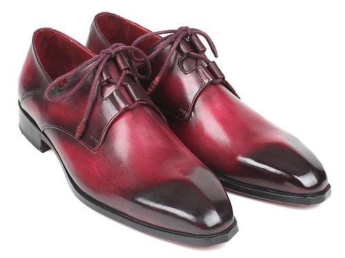 Paul Parkman Ghillie Lacing Bordeaux Dress Shoes