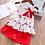 Thumbnail: Humor Bear Baby Girls Clothes Sets 2019 Summer Dot Flying Sleeve Top+strap