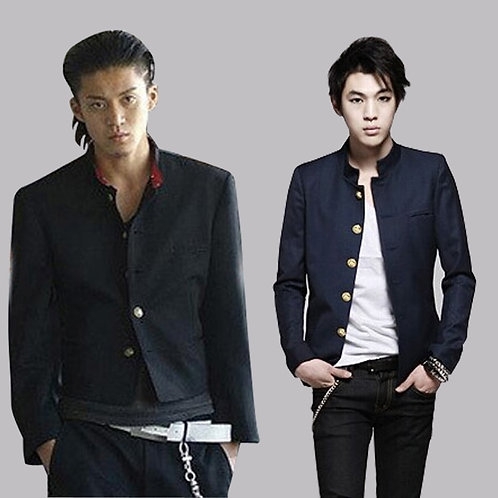 Free Shipping New Colleges University Japanese School Uniform Men's Slim Blazer