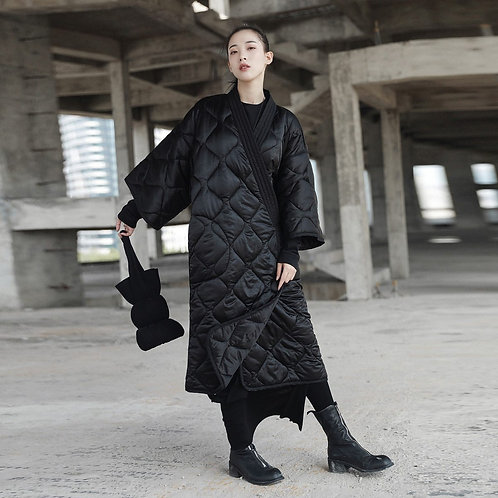 Satoko V-Collar Quilted Coat
