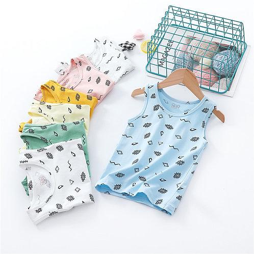 New Summer Baby Vest Children T-Shirt Cartoon Tops for Girls Kids Underwear