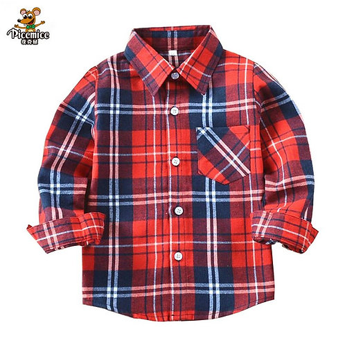 Boys Shirts Casual New 2020 Autumn Children's Tops With Pocket Outwear
