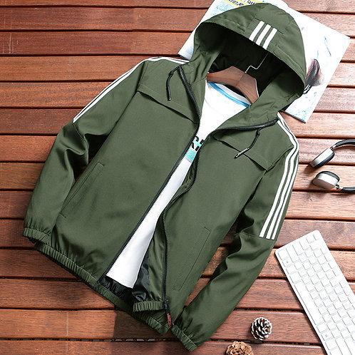 Zip Up Men Jacket Fashion Brand Slim Fit Coat Male Casual Baseball Bomber Jacket