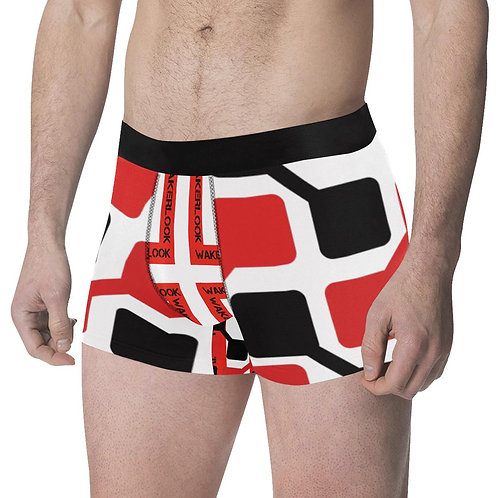 Men's Red and Black Wakerlook Print Boxer Briefs