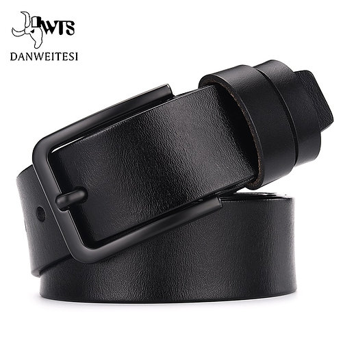 Leather Luxury Strap Male Belts for Men  / Vintage Pin Buckle Leather
