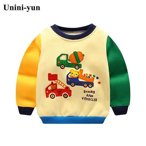NEW Boys Car Hoodies Children Hoodies Sweatshirt Boys Girls Spring Autumn Coat