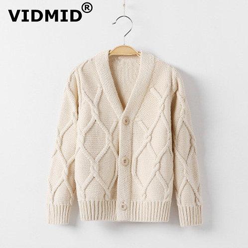 VIDMID Kids Baby Boys Cardigan Coat Sweaters for School Uniform Baby Kids Boys