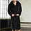Thumbnail: 5xl 4xl 3xl Flannel Robe Male Thick Solid Dressing Gown Plus Size Belted Empire