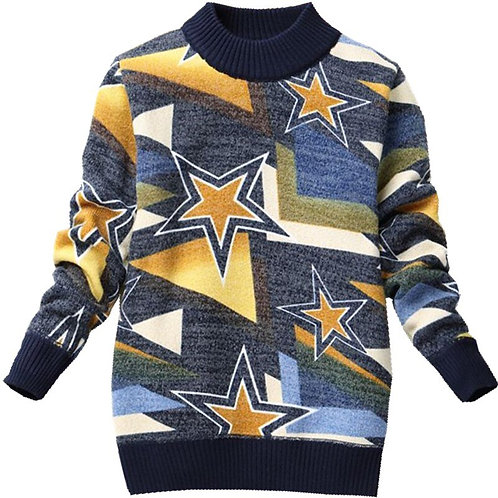 Knitted Kids Boy Sweater Casual Winter 2019 Star Pattern