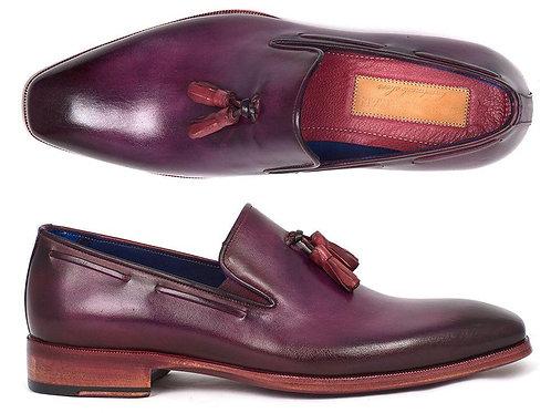 Paul Parkman Men's Tassel Loafer Purple