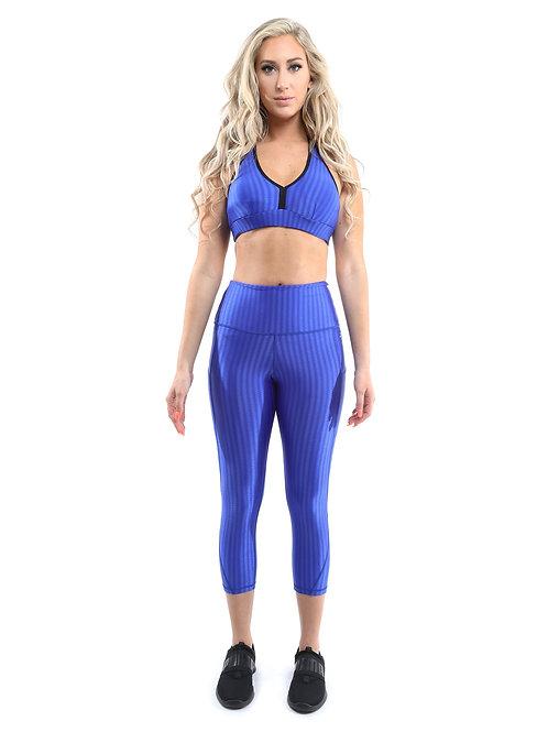 Firenze Activewear Set - Leggings & Sports Bra - Blue