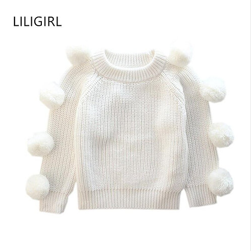 LILIGIRL Toddler Baby Knit Sweater Jackets for Girls Cotton Warm Tops Clothes