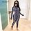 Thumbnail: 2019 New Sexy Stand Neck Skinny Rompers Zippers Long Sleeve Print umpsuit
