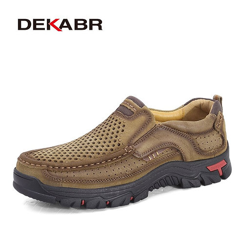 Genuine Leather  Flats Breathable Casual Italian Loafers Comfortable