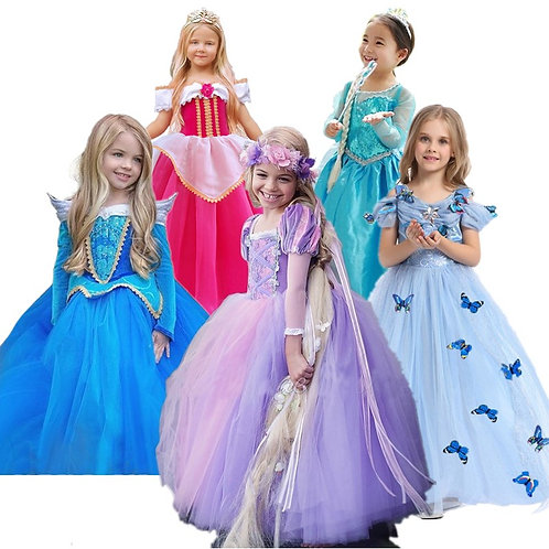 Fancy Children's Clothing Princess Dresses for Girls Party Cosplay Princess