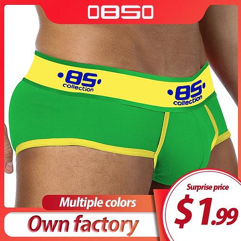 ORLVS Cotton Men Underwear Briefs Men Cuecas Soft Underpants