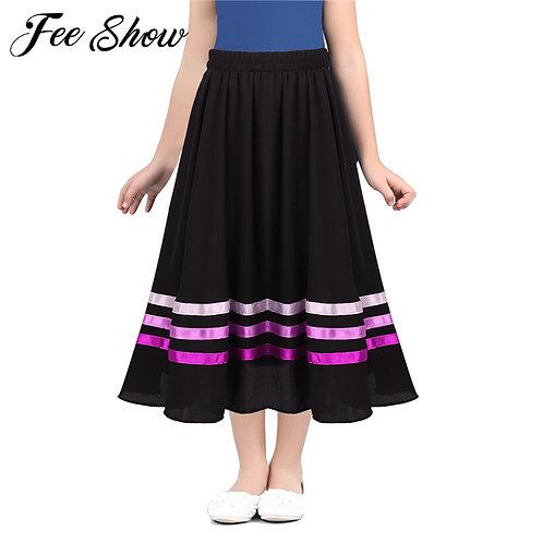Ballet Character Skirt Teen Girls High Waist Long Maxi Full Circle Skirt