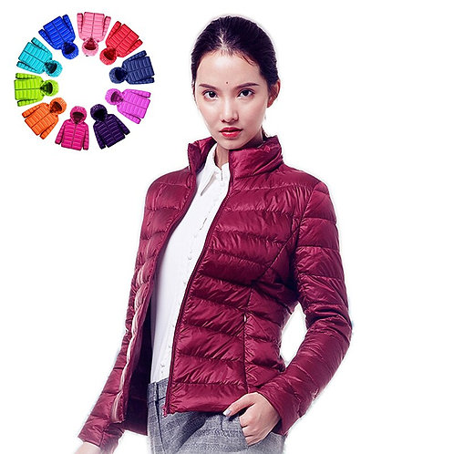 Queen Goddess Women Down Jacket Hooded 90% Duck Warm Overcoat
