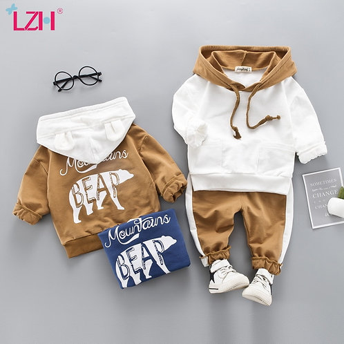 Toddler Boys Clothes 2020 Autumn Winter Kids Girls Clothes Hooded+Pant 2pcs