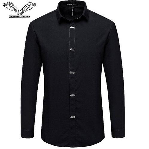 VISADA JAUNA Men's Shirts 2018 Autumn New Arrival British Style Casual Shirt